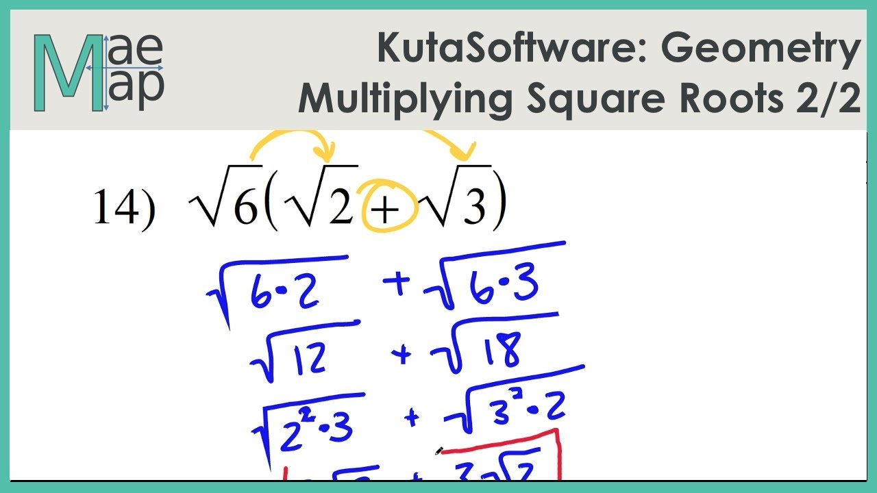 Kutasoftware Geometry Multiplying Square Roots Part 2 Youtube