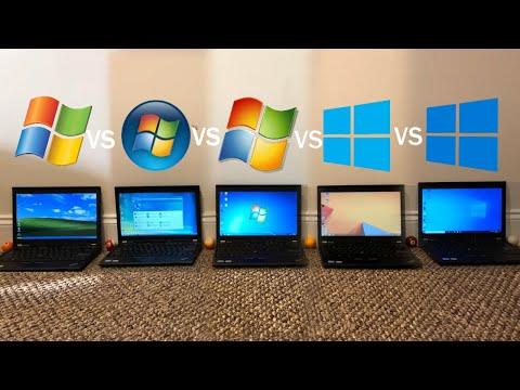 Windows XP Vs Vista Vs 7 Vs 8.1 Vs 10 | Speed Test