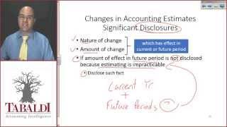 IAS 8 - Accounting Estimates Theory