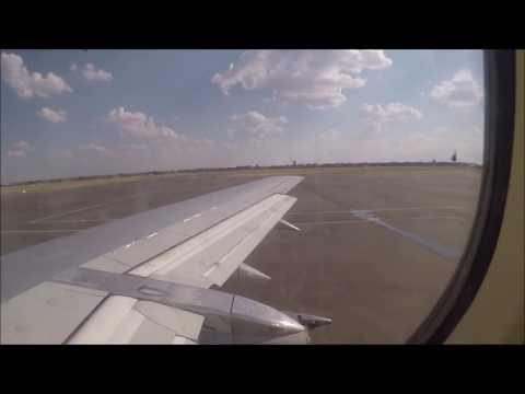 Air Zimbabwe Boeing 737-200Advanced takeoff at Victoria Falls International Airport