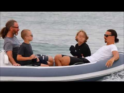 Zlatan Ibrahimovic relaxes in St Tropez as he continues recovery