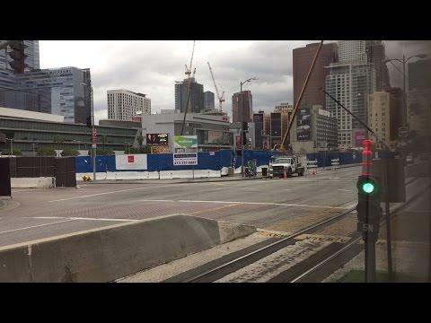 LA Metro Rail HD 60 FPS: Riding Siemens P2000 Blue/Expo Line Train (Pico to 7th Street/Metro Center)