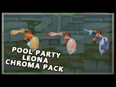 Pool Party Leona Chroma Pack - League of Legends
