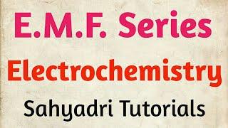 E.M.F. Services | Electrochemistry | Chemistry | MHT-CET