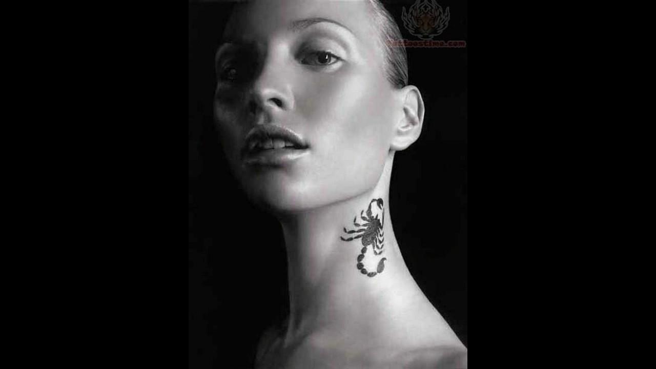 df5e21b98f968 Amazing tattoo on neck for women - YouTube