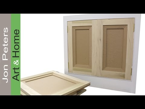 How to Make & Hang Flat Panel Cabinet Doors - YouTube