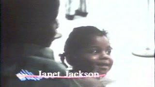 Janet Jackson as a little girl playing patty cake with Randy