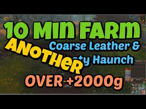 WoW BFA 10 Minute Farm ANOTHER +2000 Gold Spot Skinning Leather and Meat
