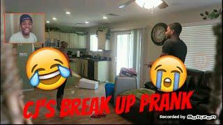 she was finna rip my nigga cj cj so cool break up prank reaction