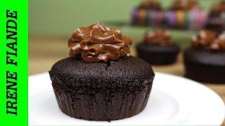 Безумно вкусные Шоколадные маффины с нутеллой. Маффины рецепт