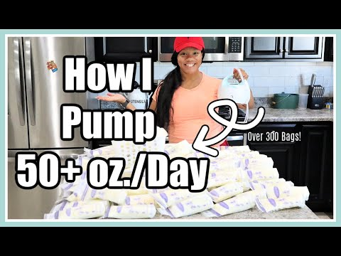 MY EXCLUSIVE PUMPING ROUTINE - UPDATED // HOW I PUMP 50+ oz + HOW TO BUILD A FREEZER STASH