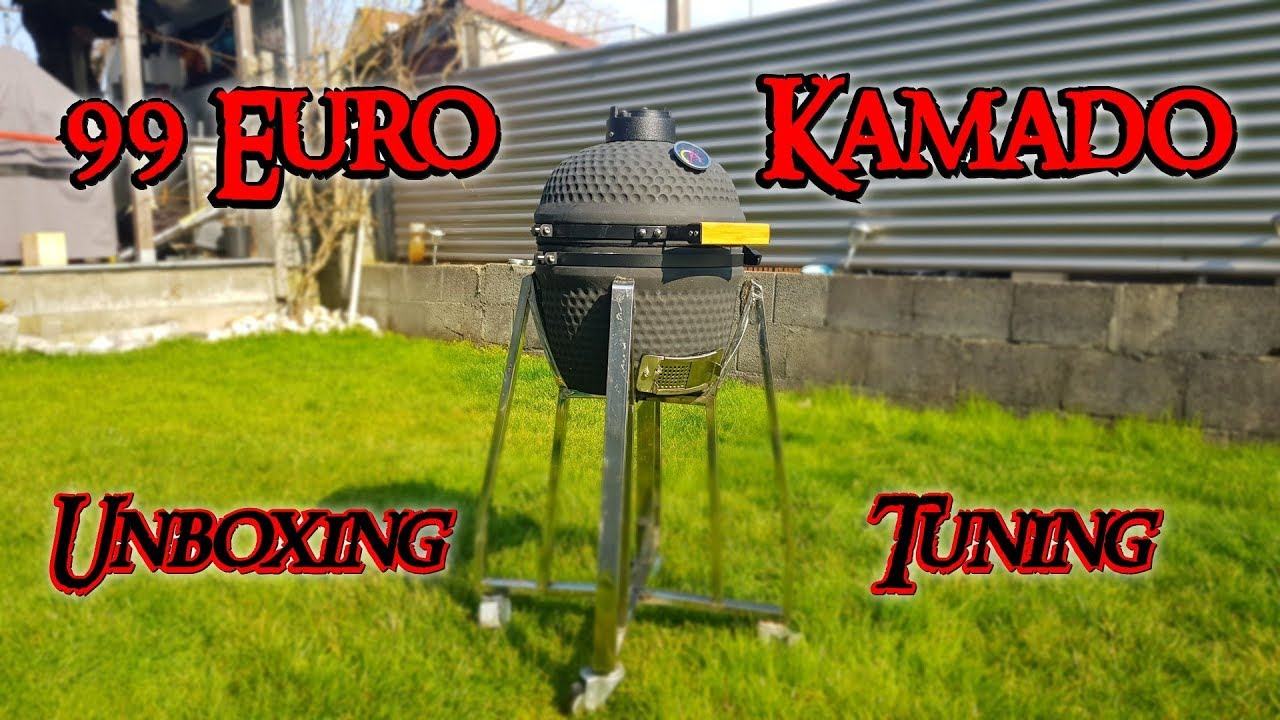 99 euro kamado teil 1 keramikgrill unboxing tuning. Black Bedroom Furniture Sets. Home Design Ideas
