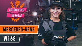 MERCEDES-BENZ A-CLASS (W168) hátsó és első Fékbetét szerelési: ingyenes videó