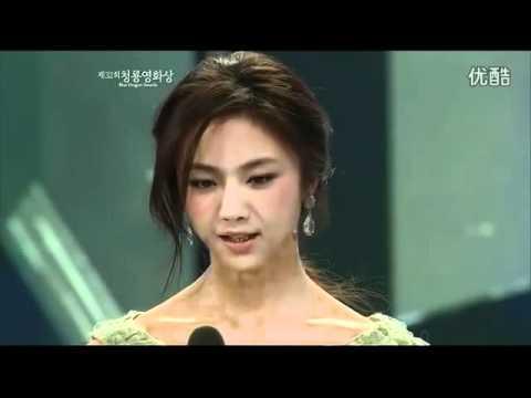 2011韩国电影青龙奖 汤唯现场秀英文