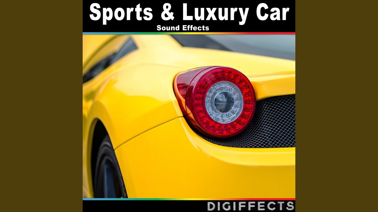 Sports car idling with mic at exhaust pipe sound effects topic