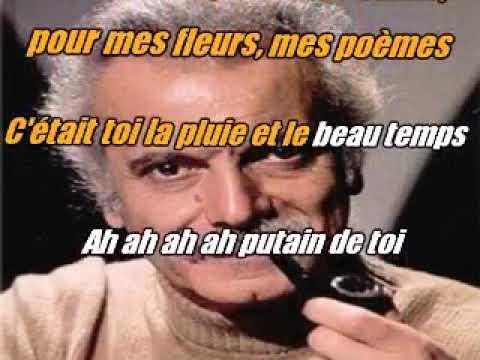 Georges Brassens    Putain de toi  KARAOKE