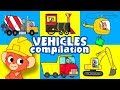 Trucks for Kids | construction truck and cars cartoon | bulldozer vehicles video | Club Baboo