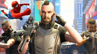 Spider-Man PS4 Stop the Shoot out on the City Streets Spectacular Difficulty 4k Ultra HD 2160p