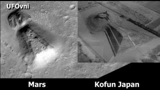 A Large Structure On Mars The Same Structure in Kofun Japan, August 2013