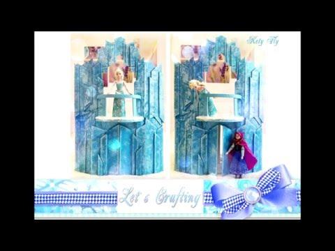 Ролик Как сделать замок для Эльзы из Холодного сердца - How to make a castle for Elsa from Frozen