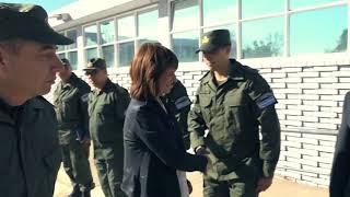 El presidente Mauricio Macri recorrió el nuevo edificio del Escuadrón Núcleo Mendoza de Gendarmería