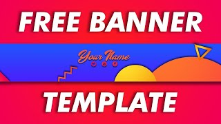 Free Youtube Abstract Banner Template | DRAGSTER