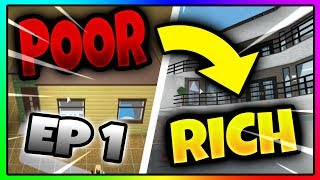 Roblox POOR TO RICH in BLOXBURG! (EPISODE 1: Building the House!)