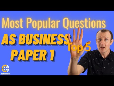 Most Popular Questions AS Business Paper 1 - Cambridge International (CAIE) 9609