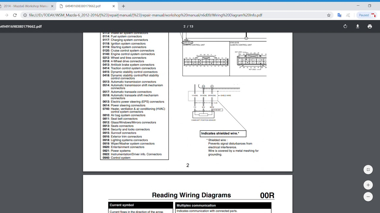 medium resolution of 2014 2016 mazda 6 service repair manual wiring diagram youtube 2014 mazda 6 radio wiring diagram