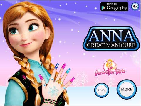 Disney Frozen Games Anna Great Manicure Fun Online