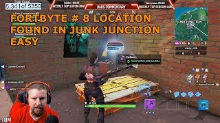 FORTNITE FORTBYTE #8 LOCATION UNLOCKED FOUND IN JUNK WITHIN JUNK JUNCTION SEASON 9 BATTLE ROYAL