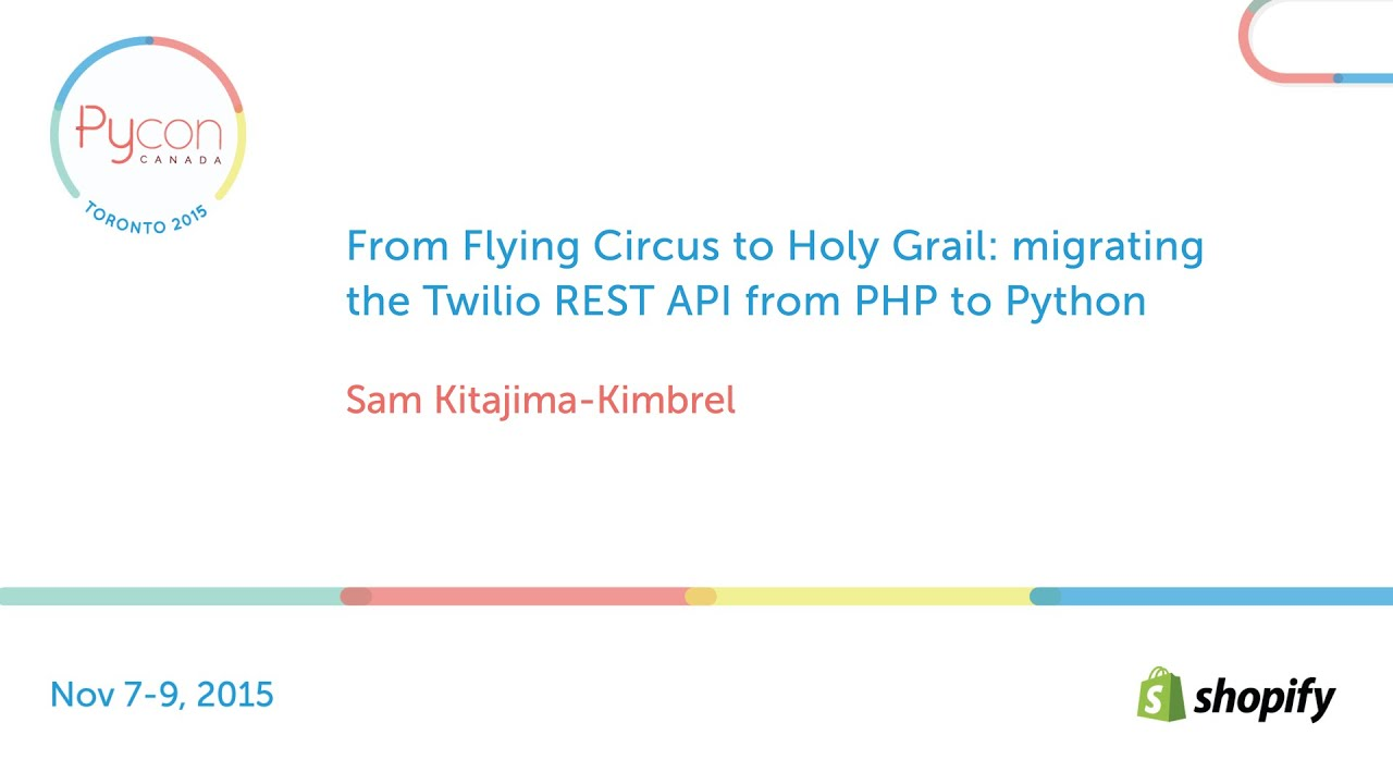Image from From Flying Circus to Holy Grail: migrating the Twilio REST API from PHP to Python