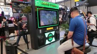 ChinaJoy会場で見かけた乗馬系体感VRシステム.