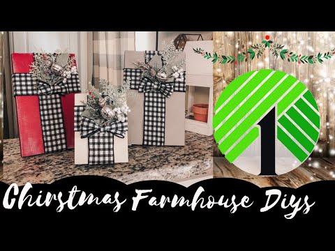 Dollar Tree Christmas Gift Set DIY 2019 | Easy Christmas Farmhouse Home Decor | Rustic