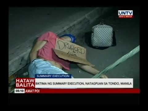 Biktima ng summary execution,natagpuan sa Tondo, Manila