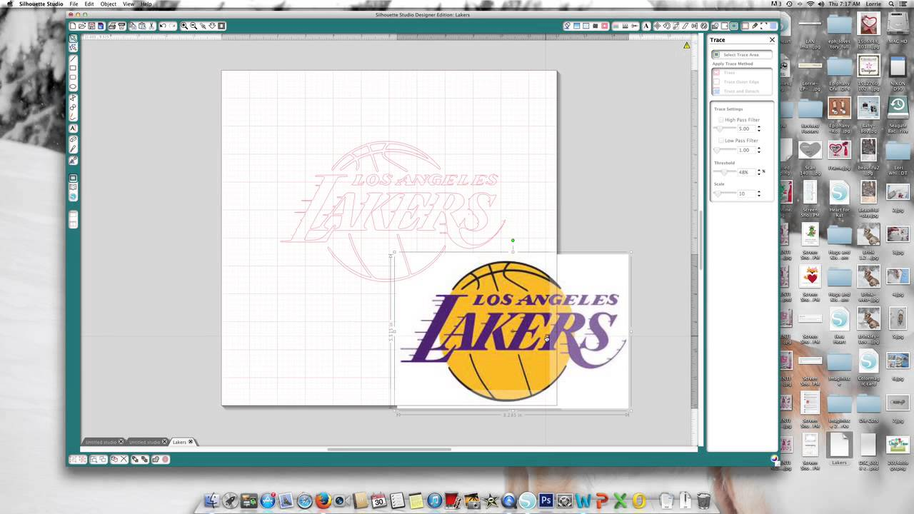 How To Make A Team Logo Car Decal With Silhouette Youtube