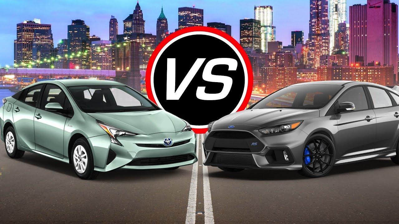 2016 Toyota Prius Vs Ford Focus Rs Spec Comparison