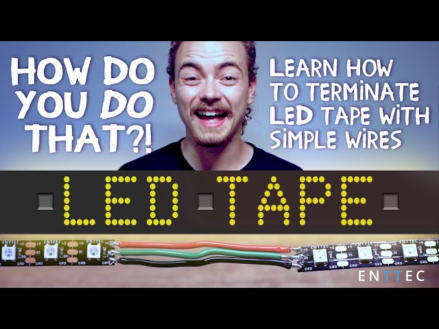 How to connect LED strips to simple wire connectors
