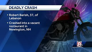 Police identify Maine man who died when motorcycle crashed into building