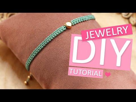 DIY Tutorial - macramé square knot basistechniek - Zelf sieraden maken