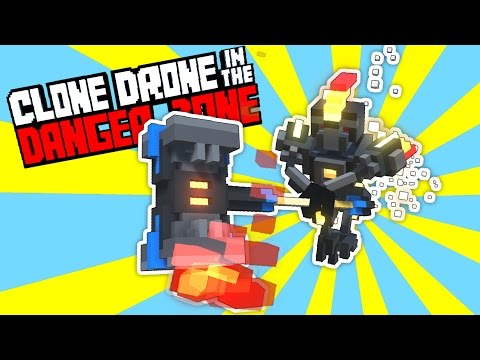 Defeating the Flame Hammer Challenge! - Clone Drone in the Danger Zone Gameplay