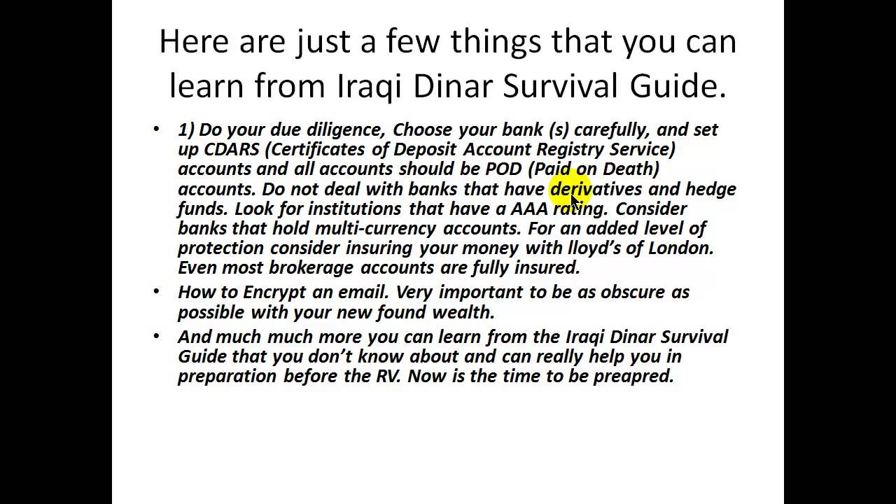 Are You Prepared For The Iraqi Dinar Rv 23 Things You Must Know