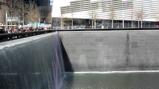 9/11 Memorial South Tower Pool and World Trade Center site March 2012 HD