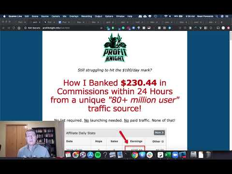 Profit Knight Review & Bonus: How Brett Hitchcock Banked $230.44 in Commissions within 24 Hours!