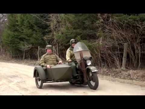 1942 Harley Davidson Motorcycle with Sidecar