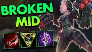 SECRET OP COUNTER PICK TO MELEE MID LANERS! VI MID IS BROKEN! - League of Legends Commentary