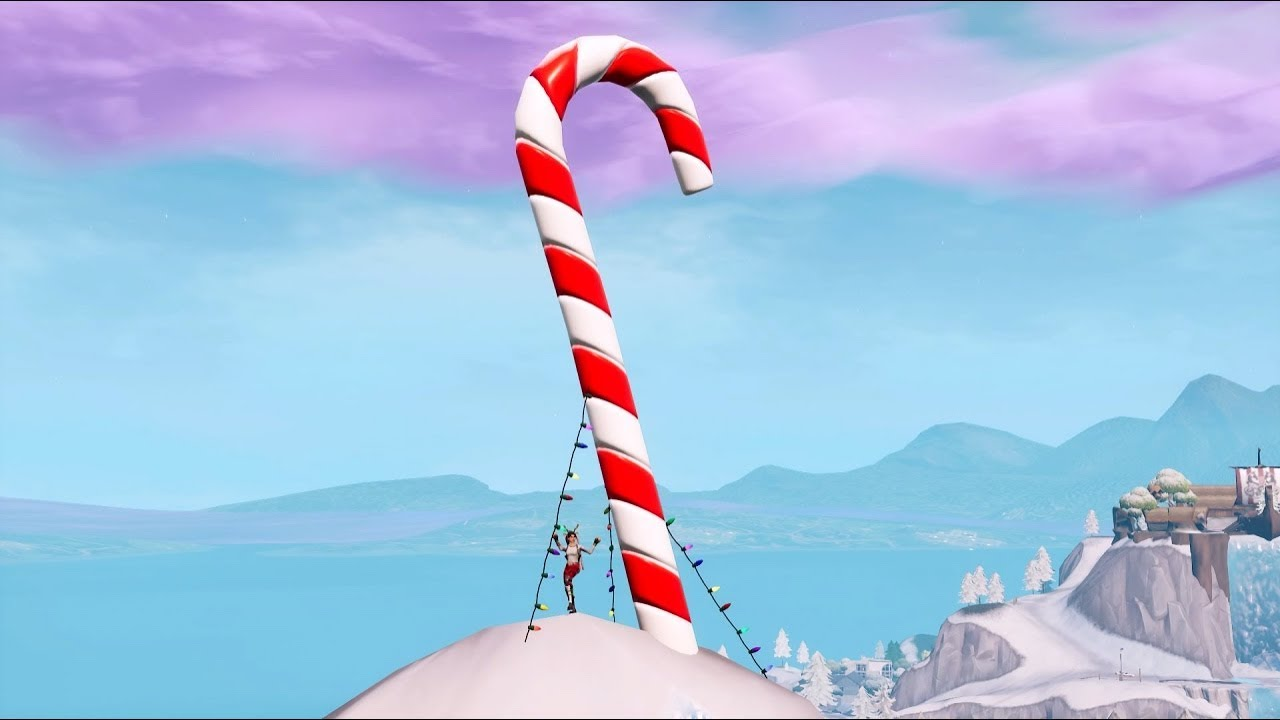 Fortnite Battle Royale All Giant Candy Cane Locations 14 Days Of