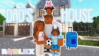 KIDS ROUTINE AT THEIR DADS HOUSE! *SHOCKING ENDING* Roblox Bloxburg Roleplay
