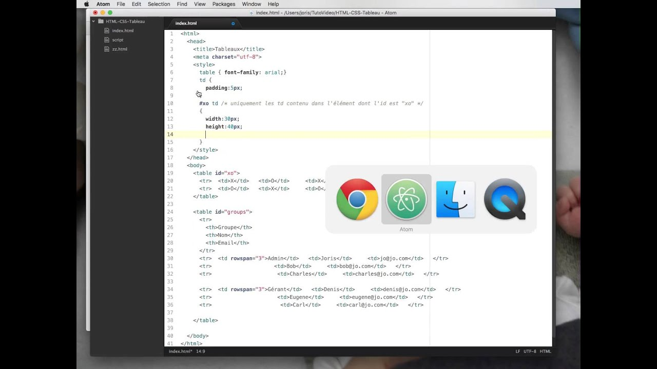 HTML + CSS : tableau - YouTube