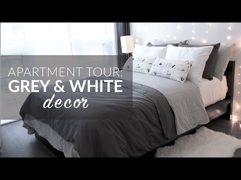 Apartment Tour  Grey & White Decor  Brash & Brilliant